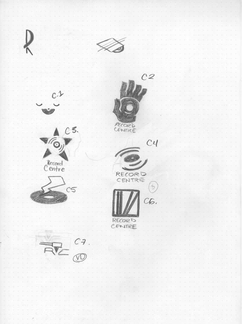 Rough sketches of different potential logos